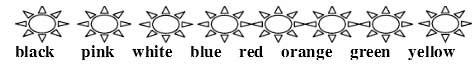 三年级英语单词涂颜色