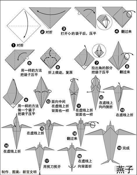 关于燕子折纸制作教程