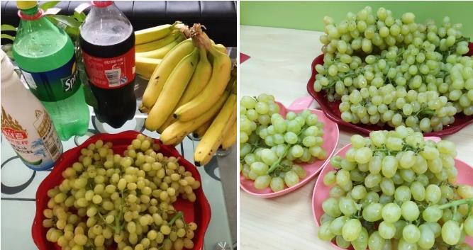 休息时间,有公司为老师们准备的水果点心。