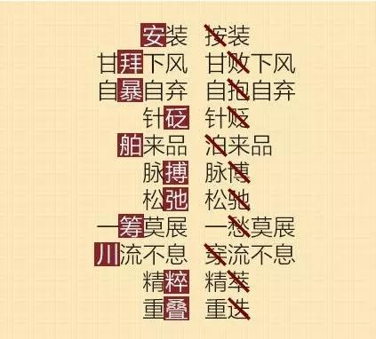 小升初写错频率最高的100个汉字