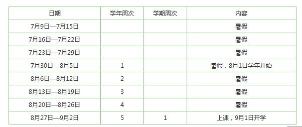★2017年广州小学暑假放假时间【7月9日-9月1日】