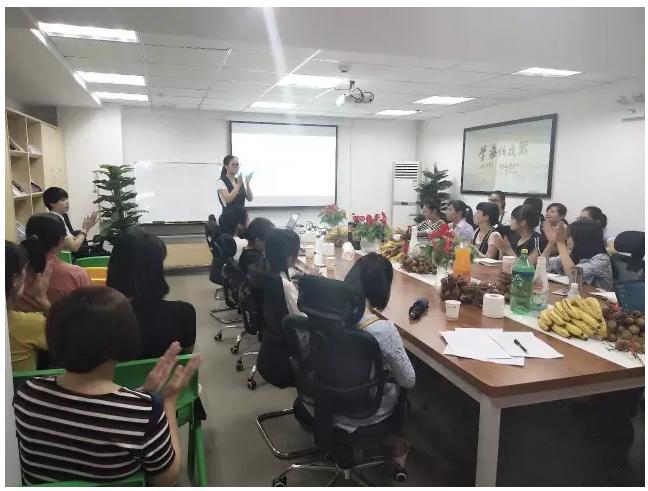 教管经理吴静女士宣贯暑期教师激励方案