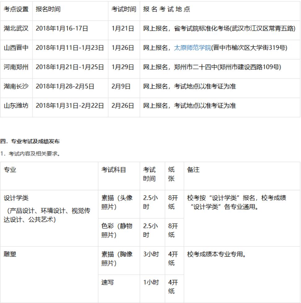 【燕山大学】2018年美术设计类专业校考招生简章