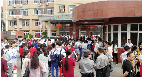 2018年上海中考现场:文莱中学