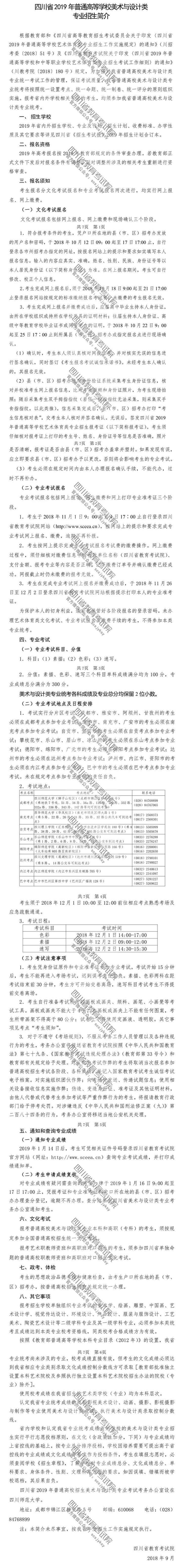 2019年四川艺考美术与设计类专业招生简介