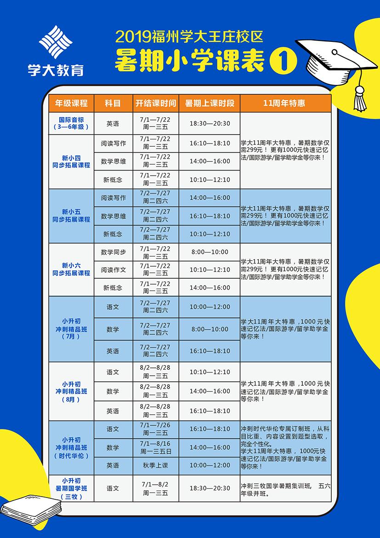 2019年福州学大王庄校区学大11周年大特惠