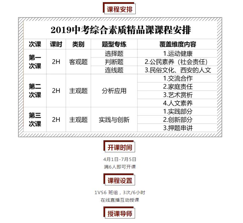2019中考综合素质系列精品课开讲啦!