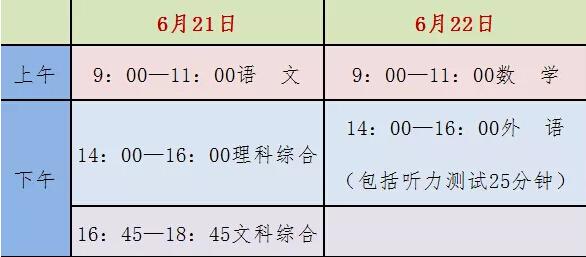 河北省2019年初中毕业生升学文化课考试时间